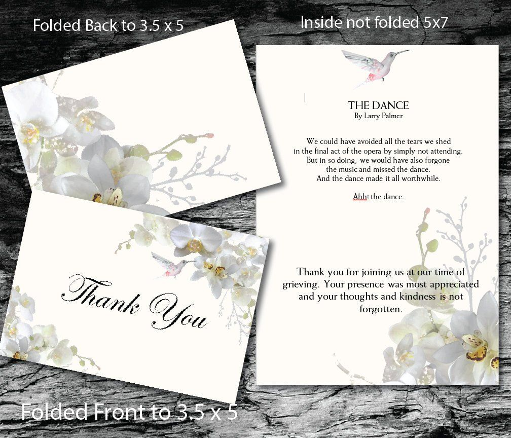 Thank You Card Memorial Thank You Editable Text Ms Word White Orchid Hummingbird Https Etsy Me 2pfscig Thankyoucar Undangan Pernikahan Kartu Pernikahan
