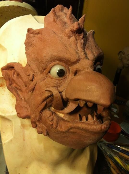 Garuda Mask Sculpt by st8exprs.deviantart.com