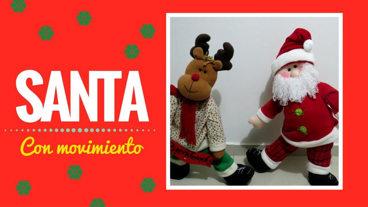 Imagenes De Papanoel En Movimiento.Santa Con Movimiento Arte Jesica Papa Noel Navidad