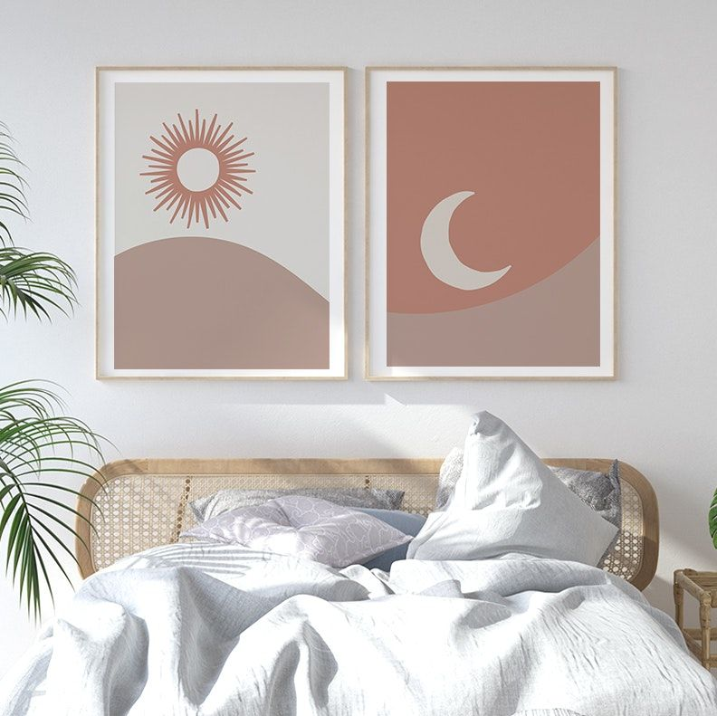 The Sun Art Print In 2020 Gallery Wall Bedroom Dorm Room Paintings Boho Gallery Wall