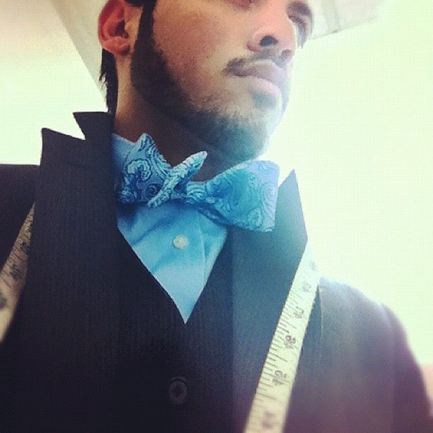 Working in a #bowtie. #MensWearhouse #SuitUp #LikeABoss