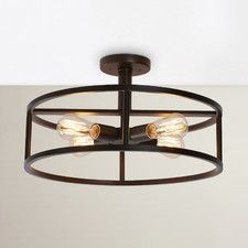 Sargeant 4 Light Semi Flush Mount Hallway Fixtures Lighting Living Room