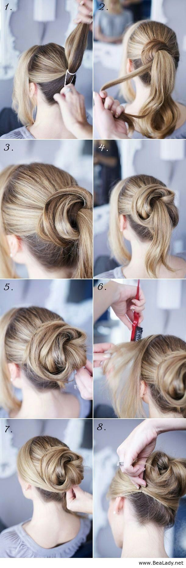 Cute hairstyle perfect for a wedding or cocktail party will it