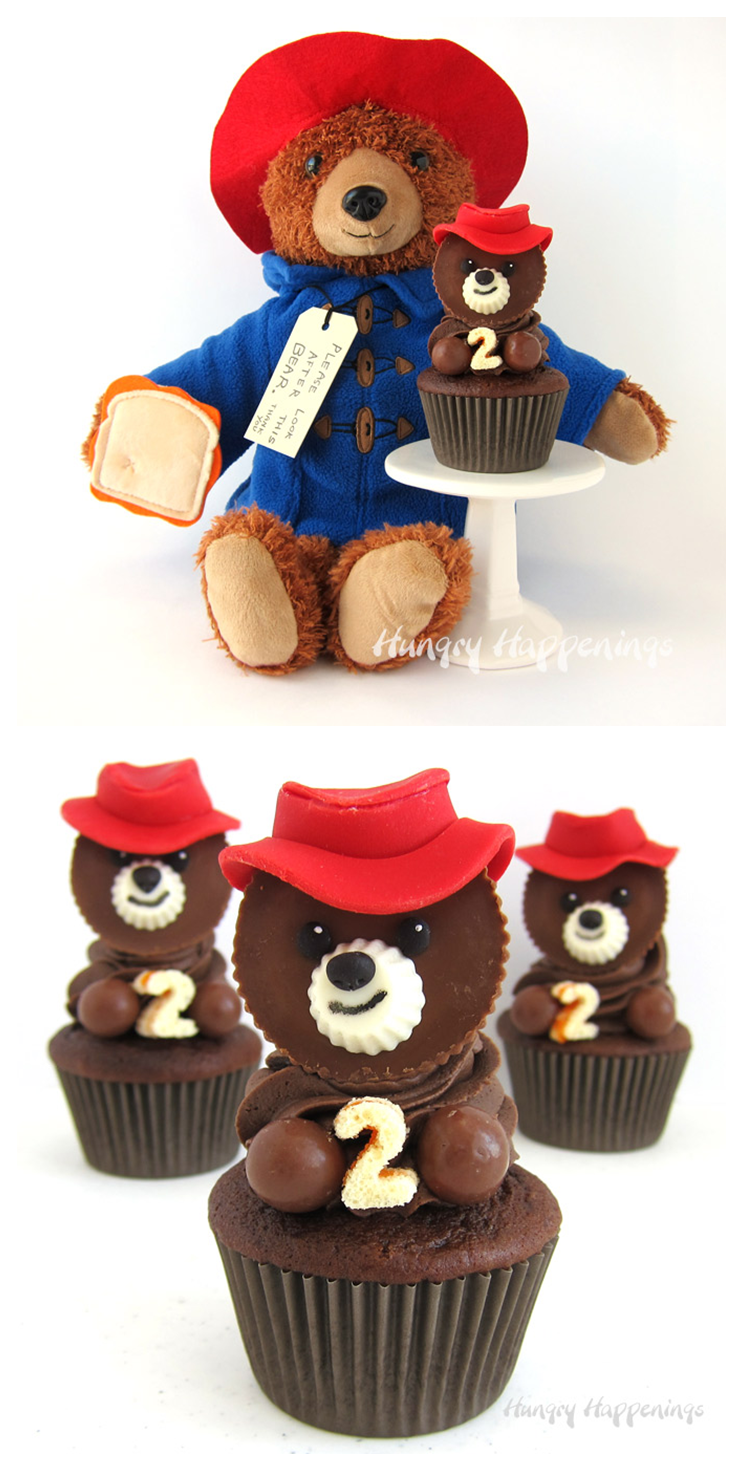 Friends of all ages will LOVE these chocolate Paddington cupcakes by @HungryHappening. | Paddington 2 - in theaters now