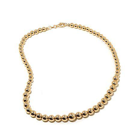 "Technibond® High-Polish Graduated Bead 18"" Necklace | HSN"