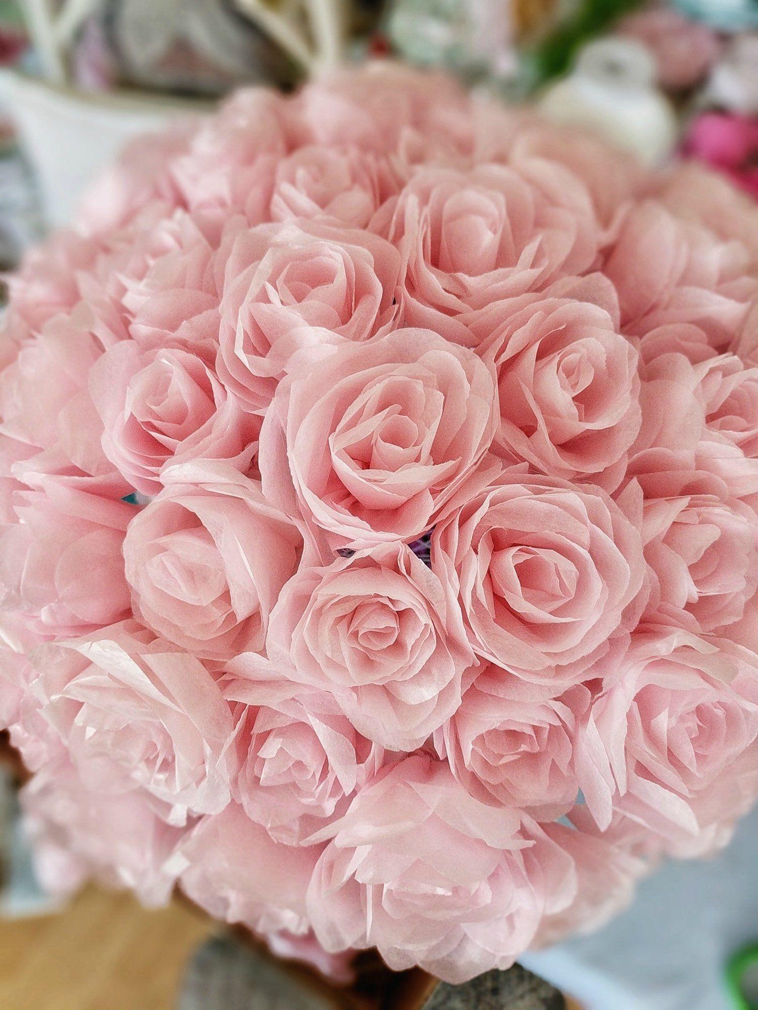 Rolled Tissue Paper Flowers In 3 Steps Allmywaysandrea Tissue
