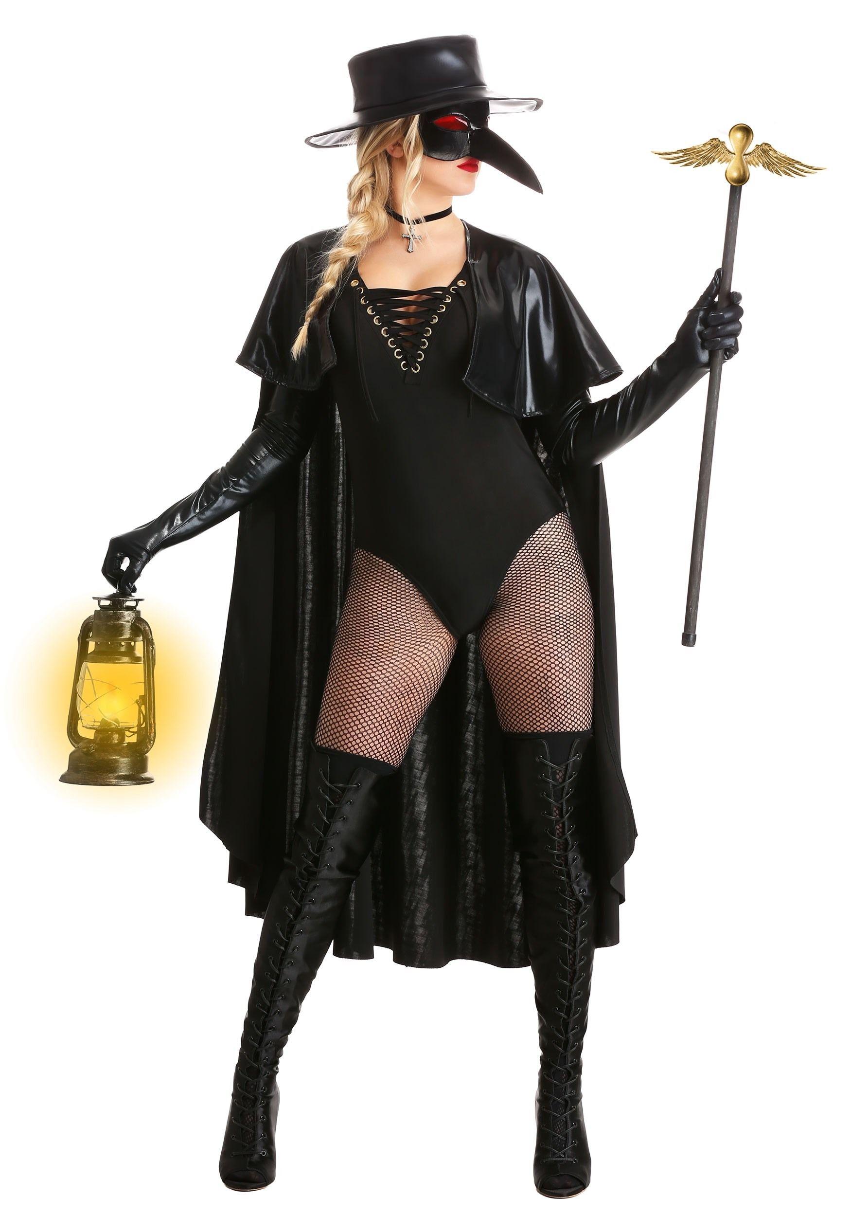 Women's Eerie Plague Doctor Costume in 2020 Plague