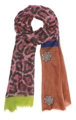 Cashmere tørklæde med vildt leopard mønster | Pure Cashmere
