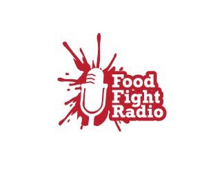 Food Fight Radio Logo Design Logo Design Inspiration Logo Design Negative Space Logos Best Logo Design