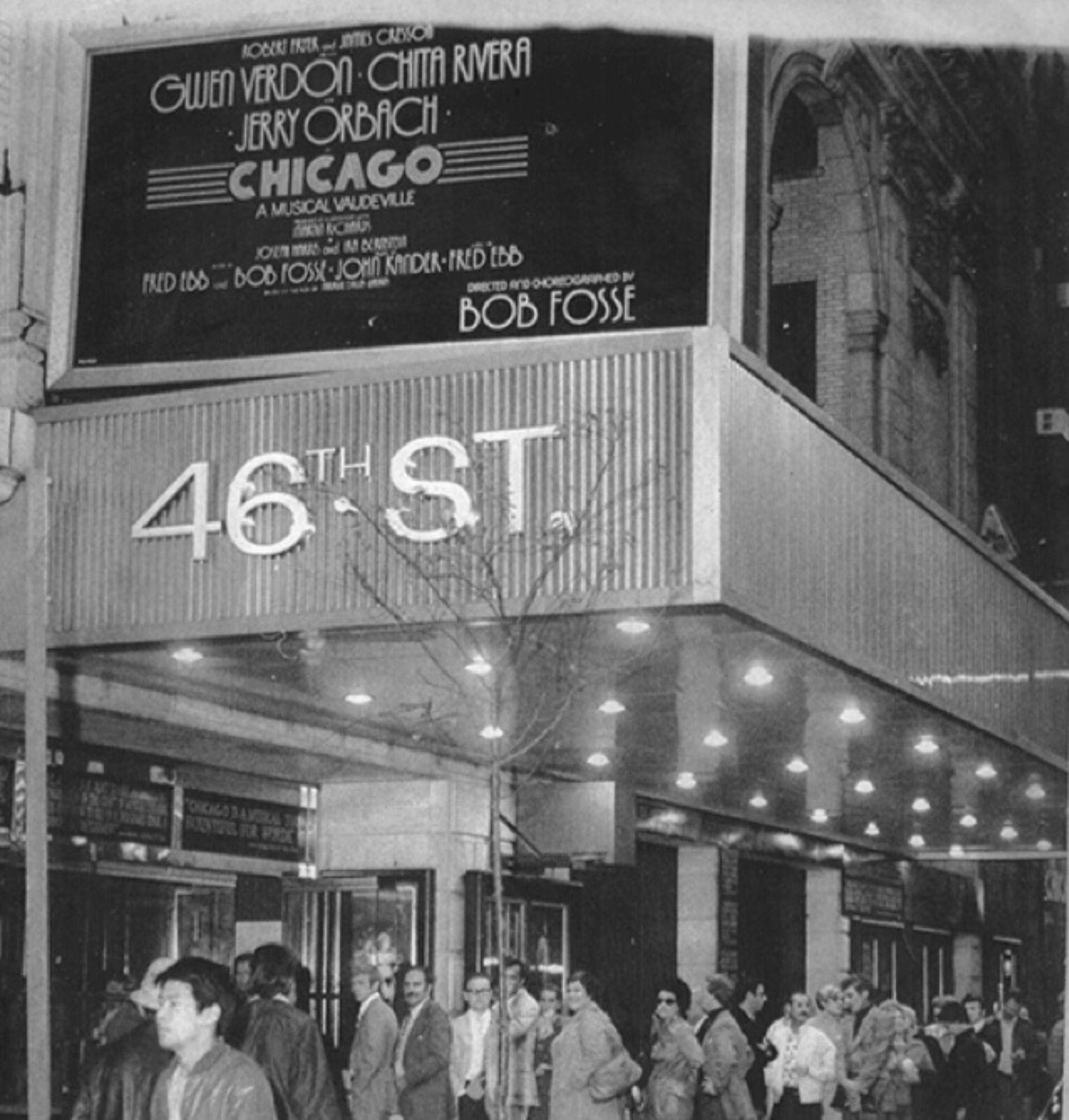 Chicago Music By John Kander Book By Fred Ebb Bob Fosse Lyrics By Fred Ebb Jerry Orbach Chita Rivera Gwen Verdon Barne Broadway Movie Marquee Bob Fosse