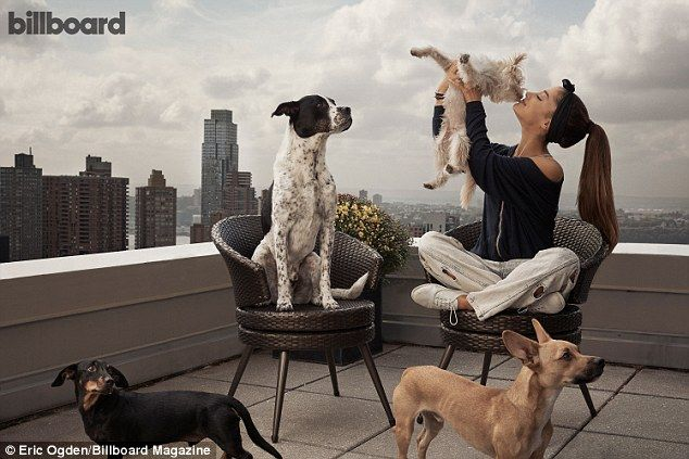 Spreading her message: 'Dogs are the most harmless, sweetest babes in the world. They show nothing but unconditional love, so they deserve that in return,' she told Billboard