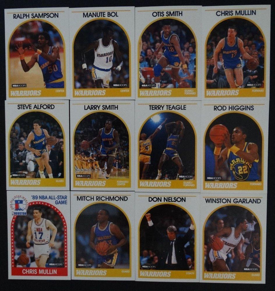 198990 hoops golden state warriors team set of 12
