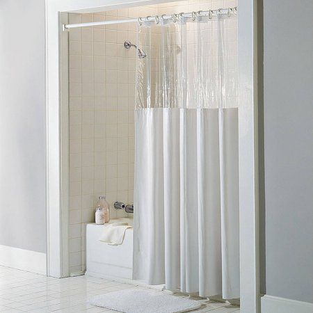 Hookless Clear Shower Curtain.Home In 2019 Products Hookless Shower Curtain Vinyl