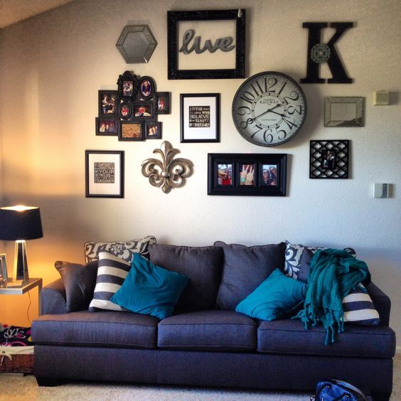 Above Couch Decorating Ideas Wall Collage Interior