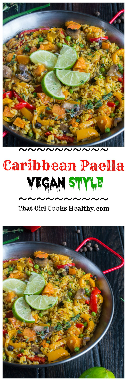 Vegan Paella Caribbean Paella