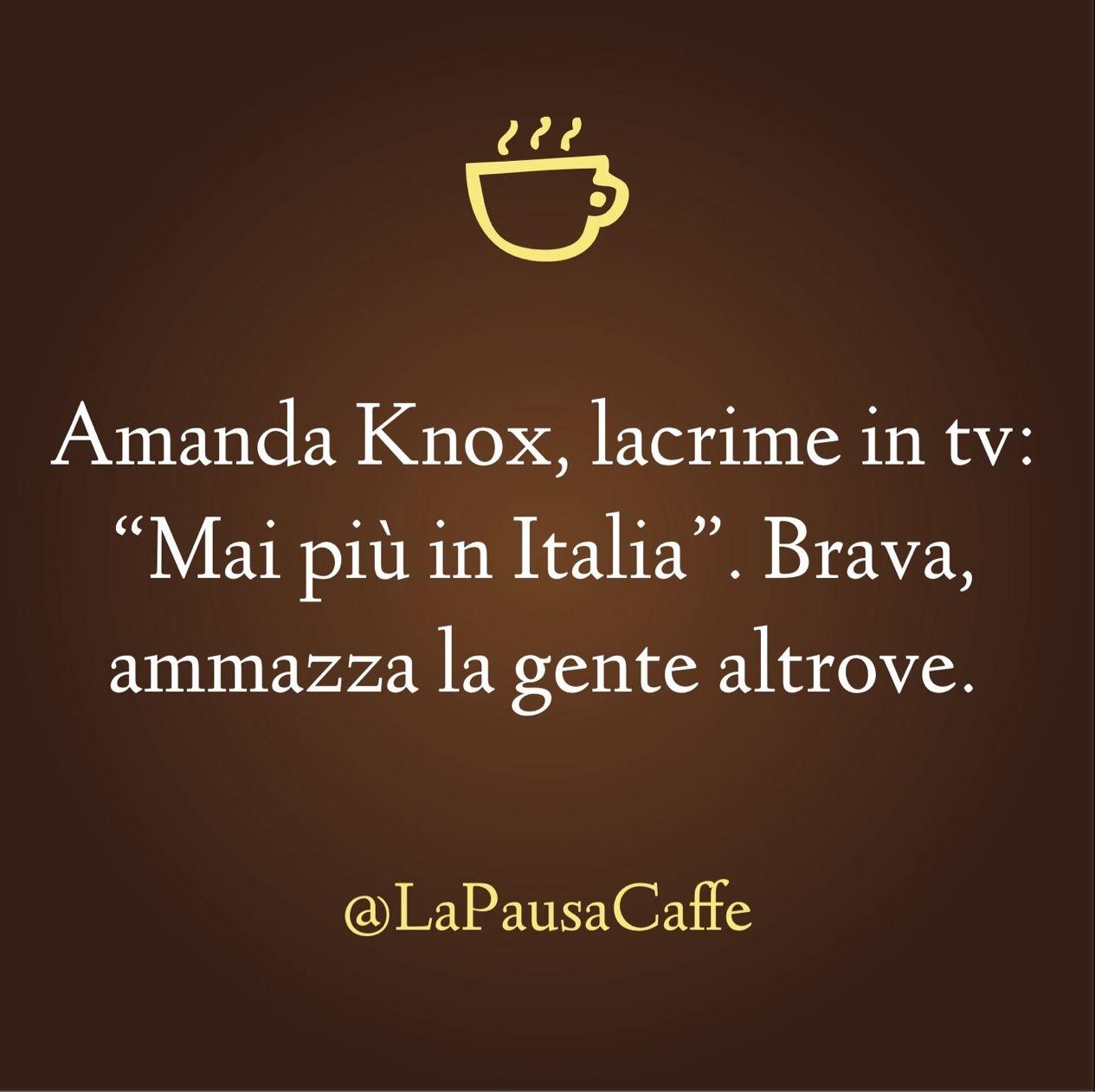 Amanda Knox, lacrime in tv...  [ #satira ]