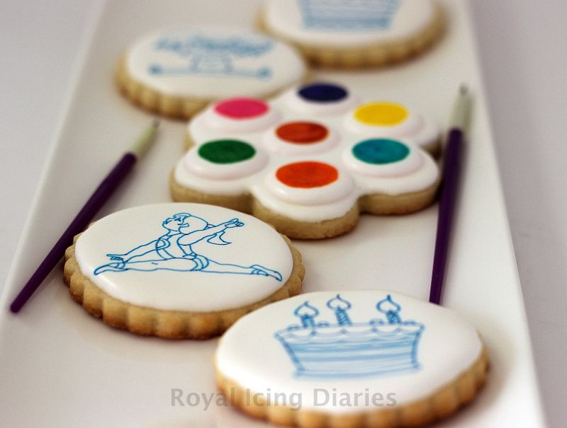 Make paint palette cookies without an airbrush