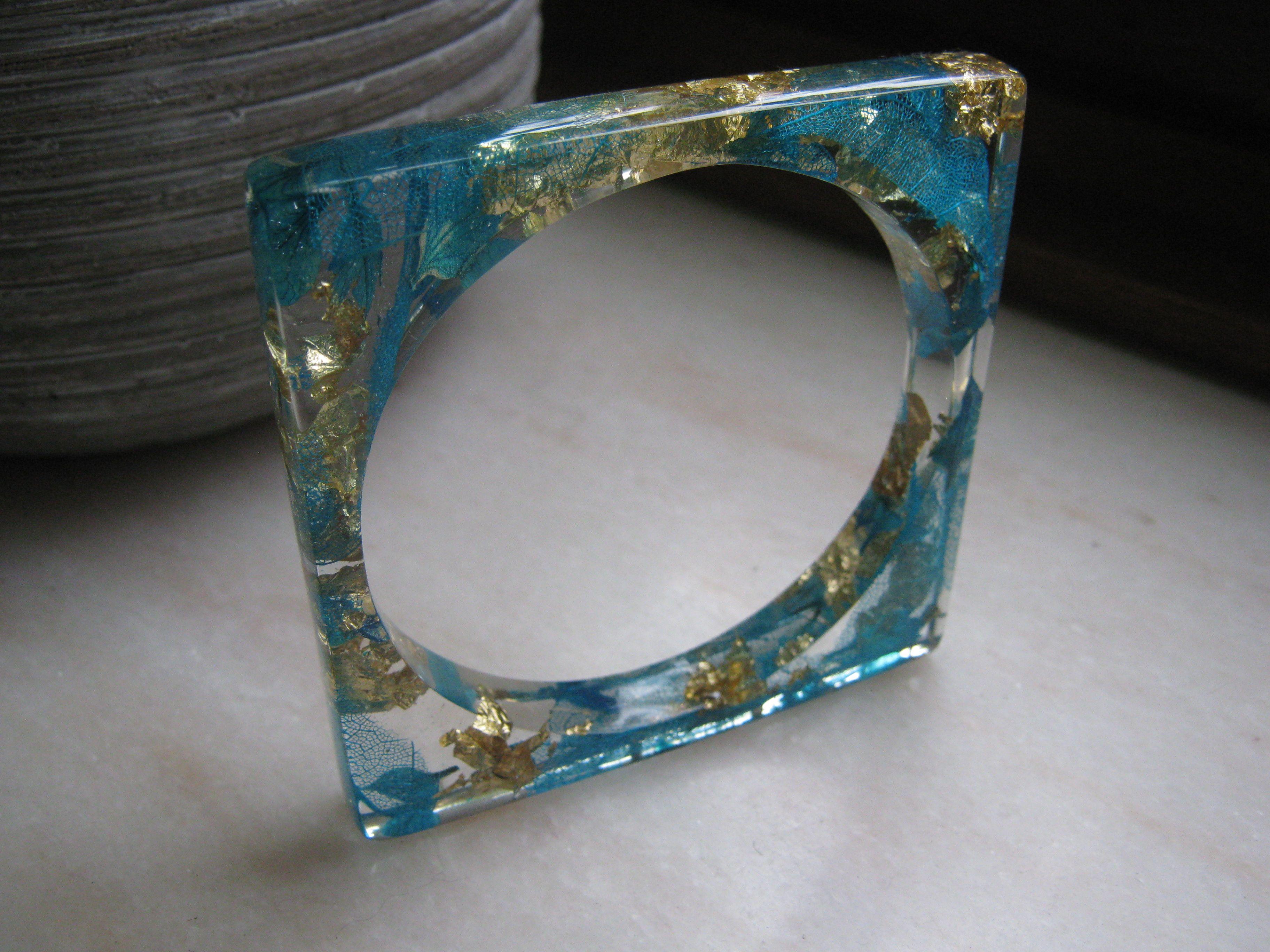 bracelet en r sine poxy cristal atelier de jadec. Black Bedroom Furniture Sets. Home Design Ideas