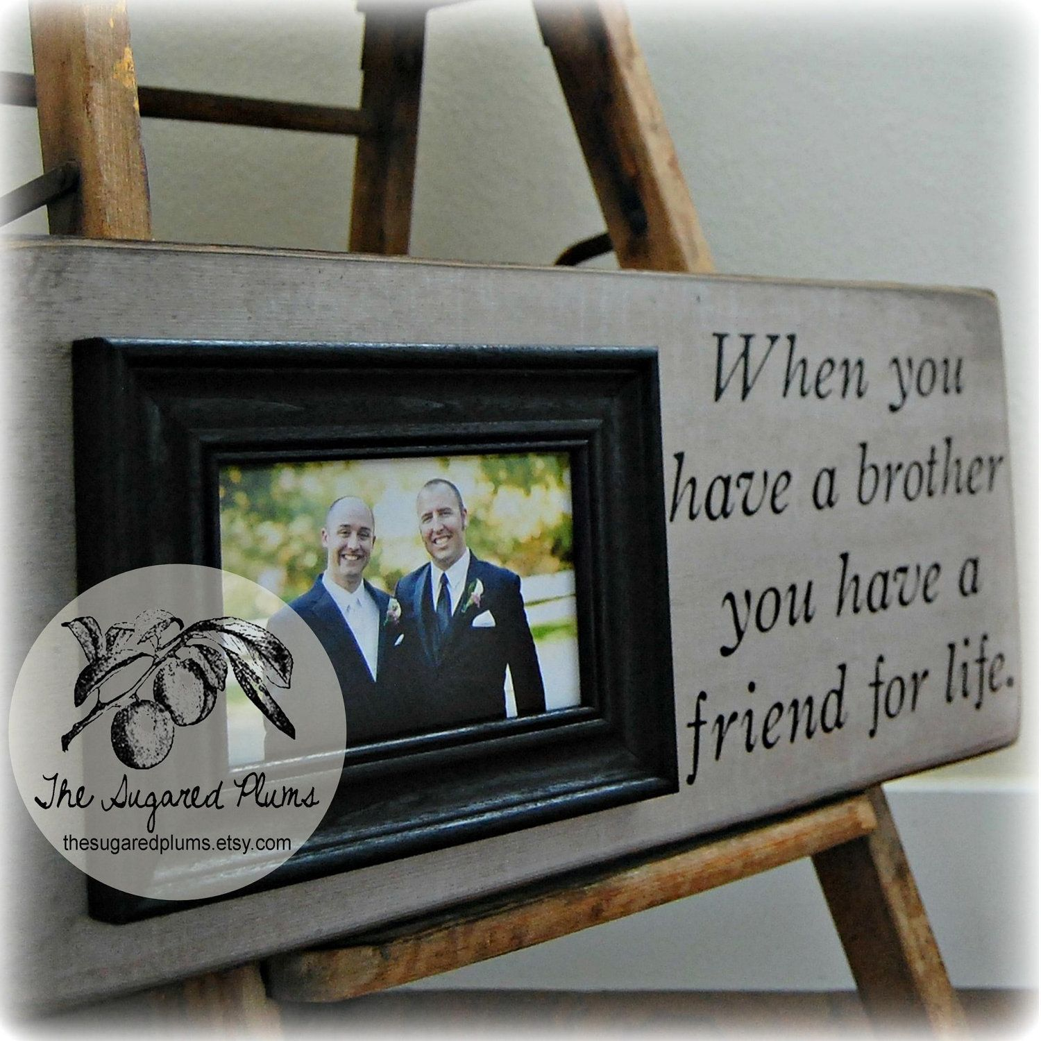 Best Man Brother Gift Personalized Picture By Thesugaredplums