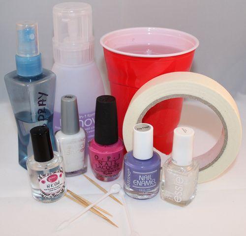 Nail Art Tutorial: The Hairspray Technique