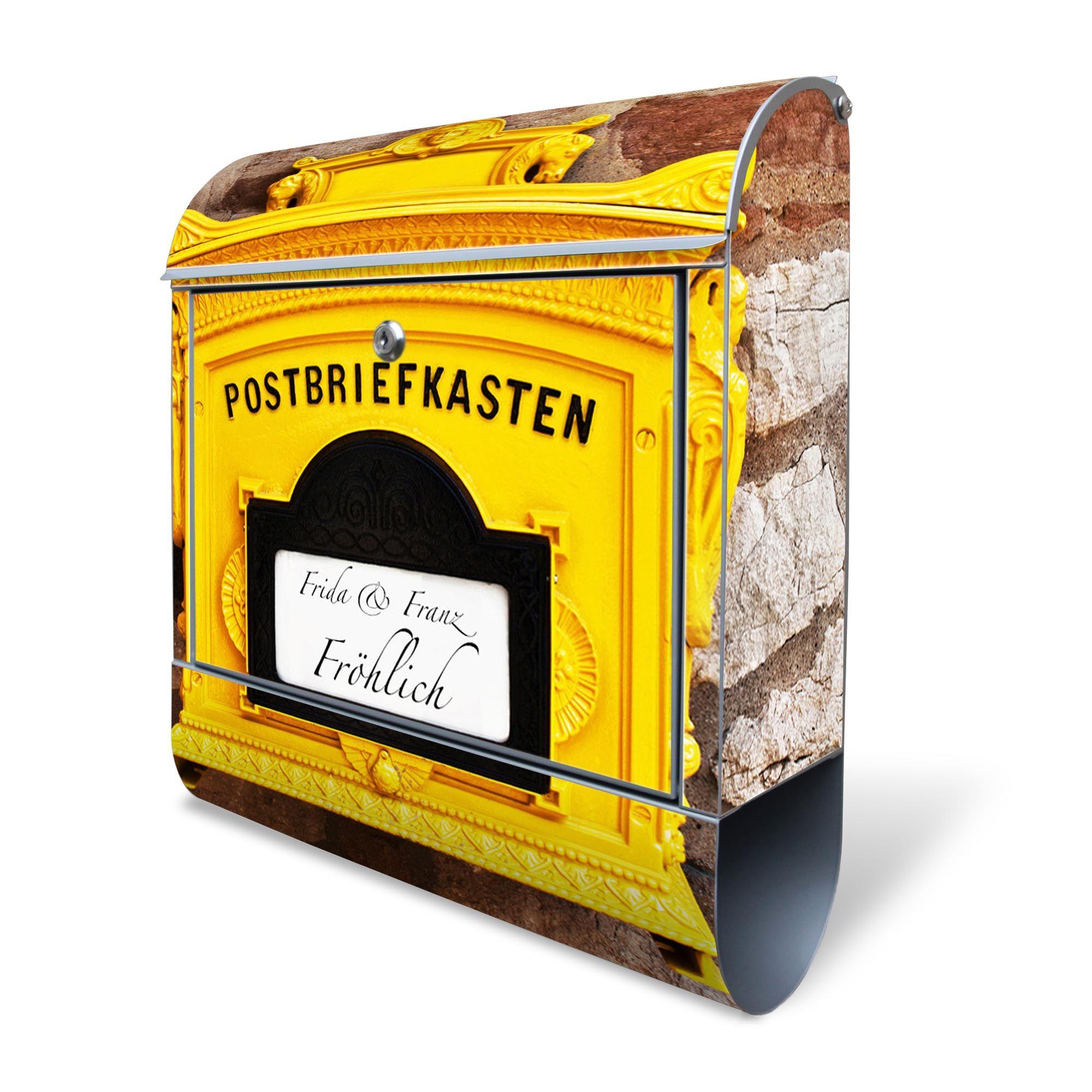 wandbriefkasten stahl historischer postkasten mit. Black Bedroom Furniture Sets. Home Design Ideas