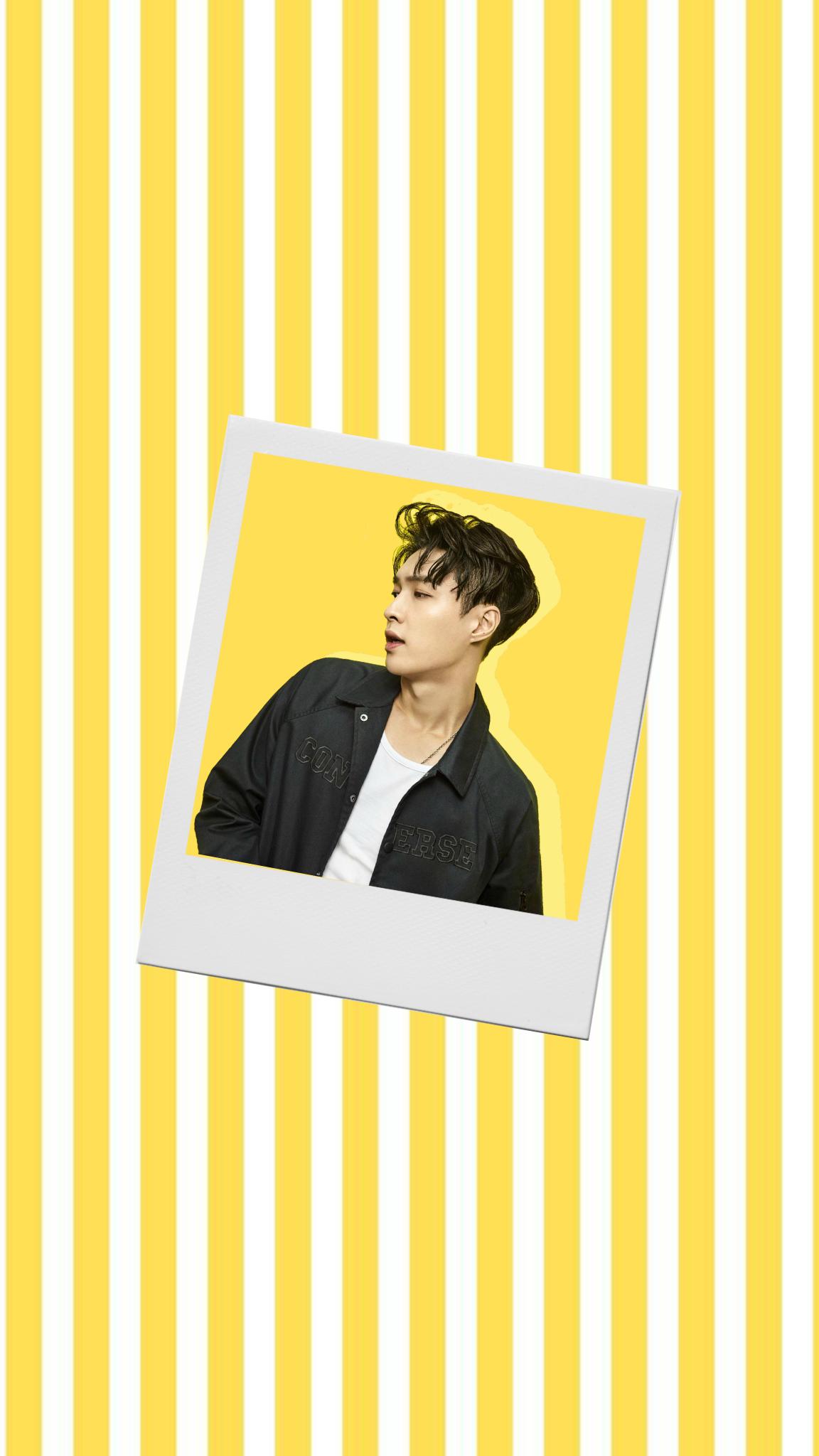 exo yixing polaroid wallpaper yellow