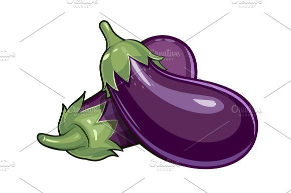Couple Of Eggplants Illustration Design Illustration Drawings