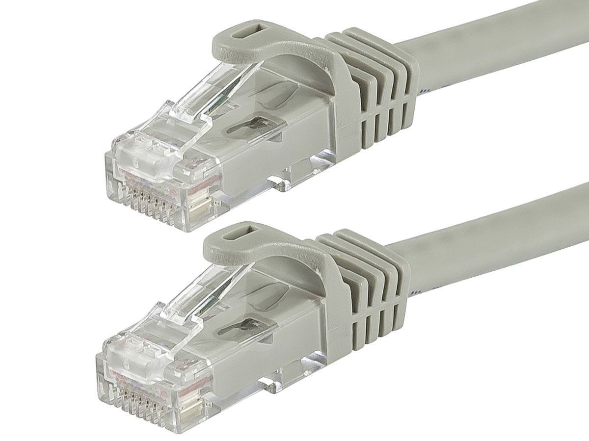 monoprice flexboot cat6 ethernet patch cable snagless rj45 stranded 550mhz utp pure bare copper wire 24awg 7ft gray large image 1 [ 1200 x 899 Pixel ]