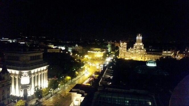 Vista De Madrid Desde La Terraza Del Circulo De Bellas Artes Animense A Conocer El Mundo Night View Panorama Circulo De Bellas Artes Bellas Artes Mundo