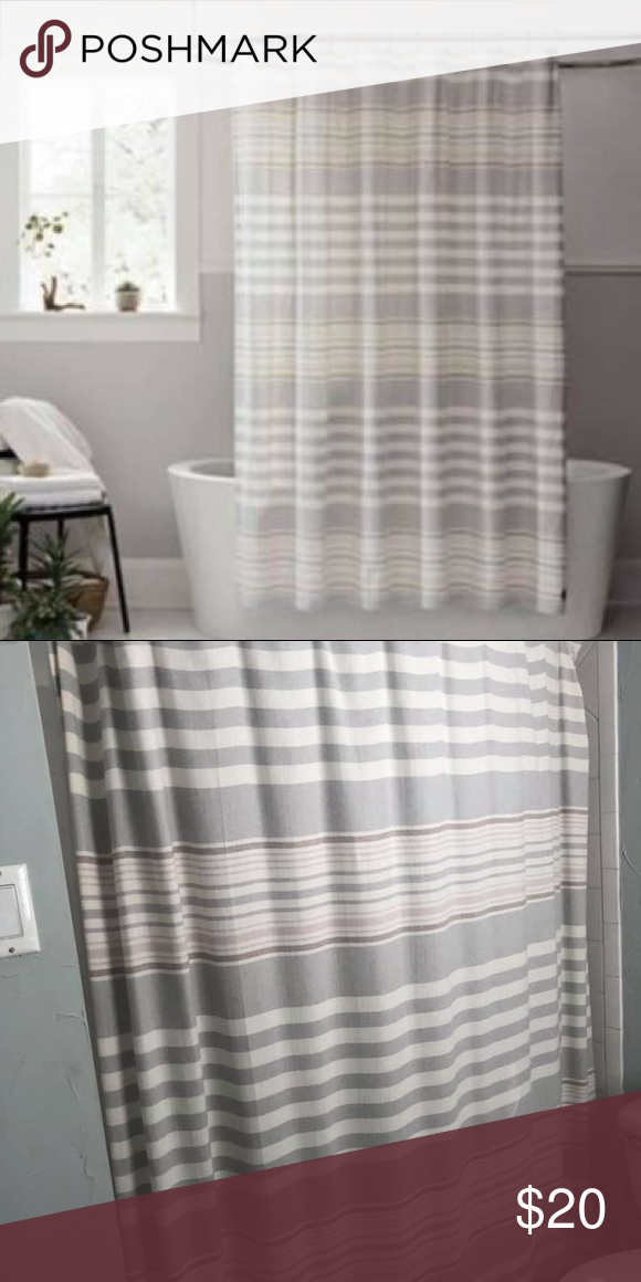 Ugg Seal Lunar Stripe Shower Curtain Striped Shower Curtains