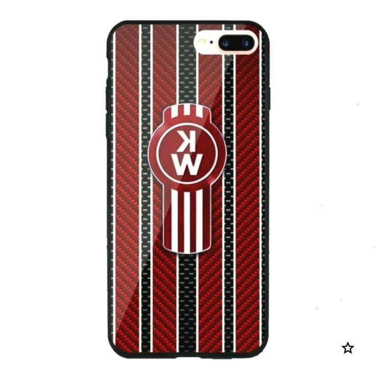 Emblem iPhone XR and XS MAX Hard Plastic Case CoverRed Kenworth Emblem iPhone XR and XS MAX Hard Pl