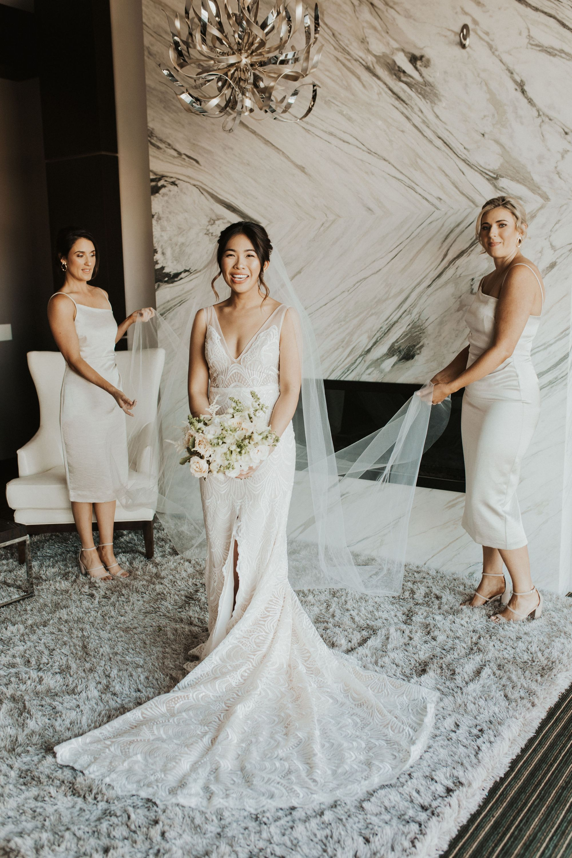 We Love Love Love This White On White Bridal Party Look So Chic