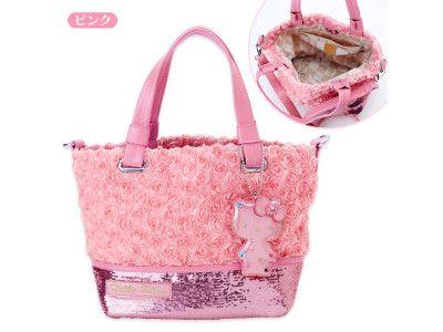 1c49cb576301 SAVOY x Hello Kitty 2 Way Shoulder Tote Bag Rose Pink SANRIO JAPAN ...