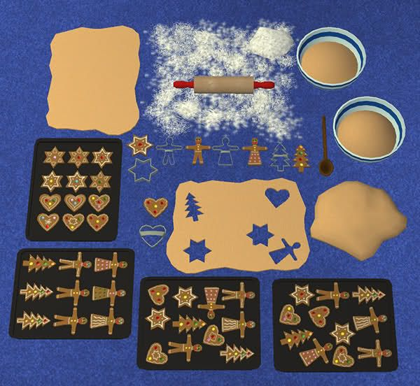 It's A Decorative Christmas Cookie-making Set.