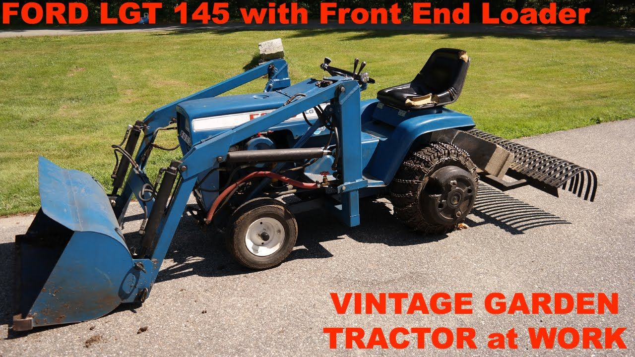 FORD LAWN TRACTOR OPERATORS | Ford LGT 145 Garden Tractor Front End Loader  and Landscape .