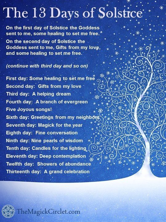 16ed4c2028b2 13 days of solstice. Certainly a different way to look at the holiday and  the days following it.