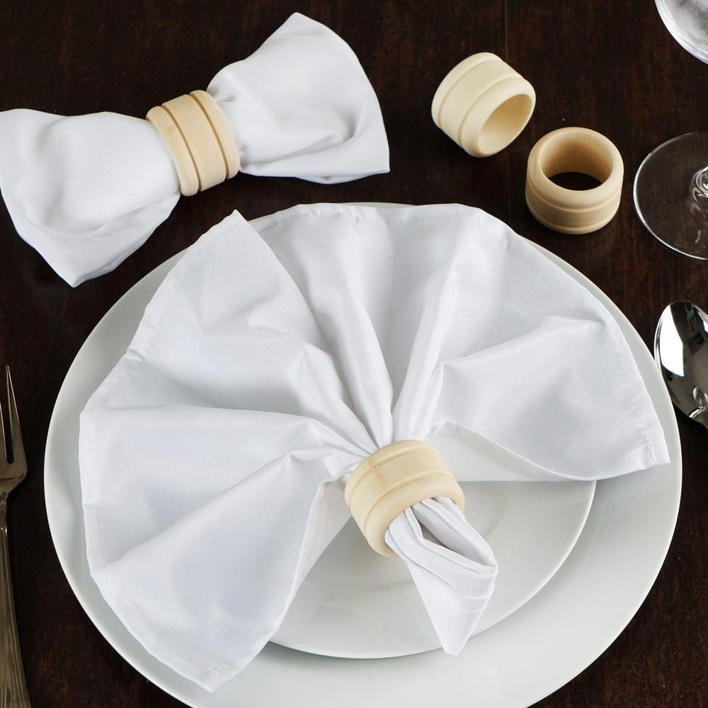 4 Pack Eco Friendly Rustic Grace Disposable Wooden Napkin Rings