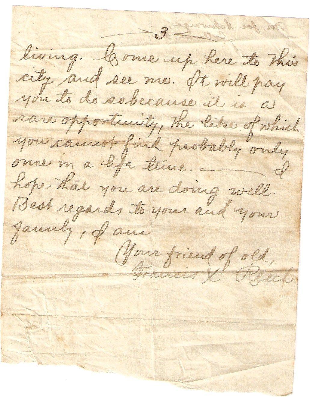 Courtship letter