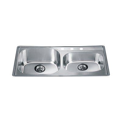 Dawn ch355 top mount series double basin kitchen sink plumbing dawn ch355 top mount series double basin kitchen sink workwithnaturefo