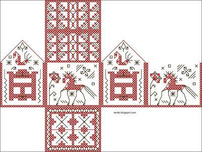 cute russian folk house chart.