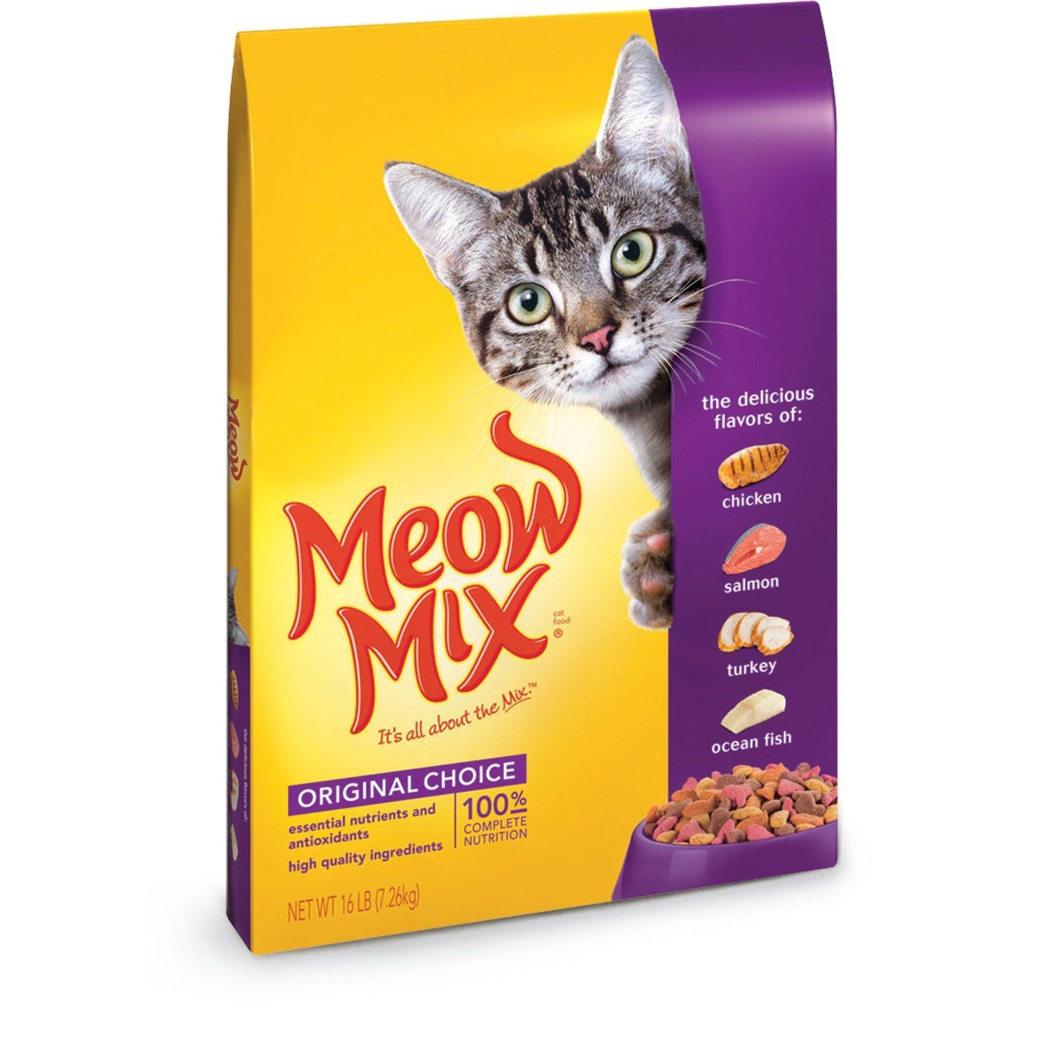 1 Meow Mix Dry Cat Food Http Amzn To 1pjaaex Cat Food Coupons Dry Cat Food Kitten Food