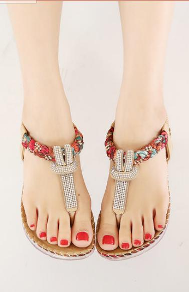 117e1ad8d UMMEWALO Summer Sandals Women T-strap Flip Flops Thong Sandals Designer  Elastic Band Ladies Gladiator Sandal Shoes Zapatos Mujer  womensshoes   sandals ...