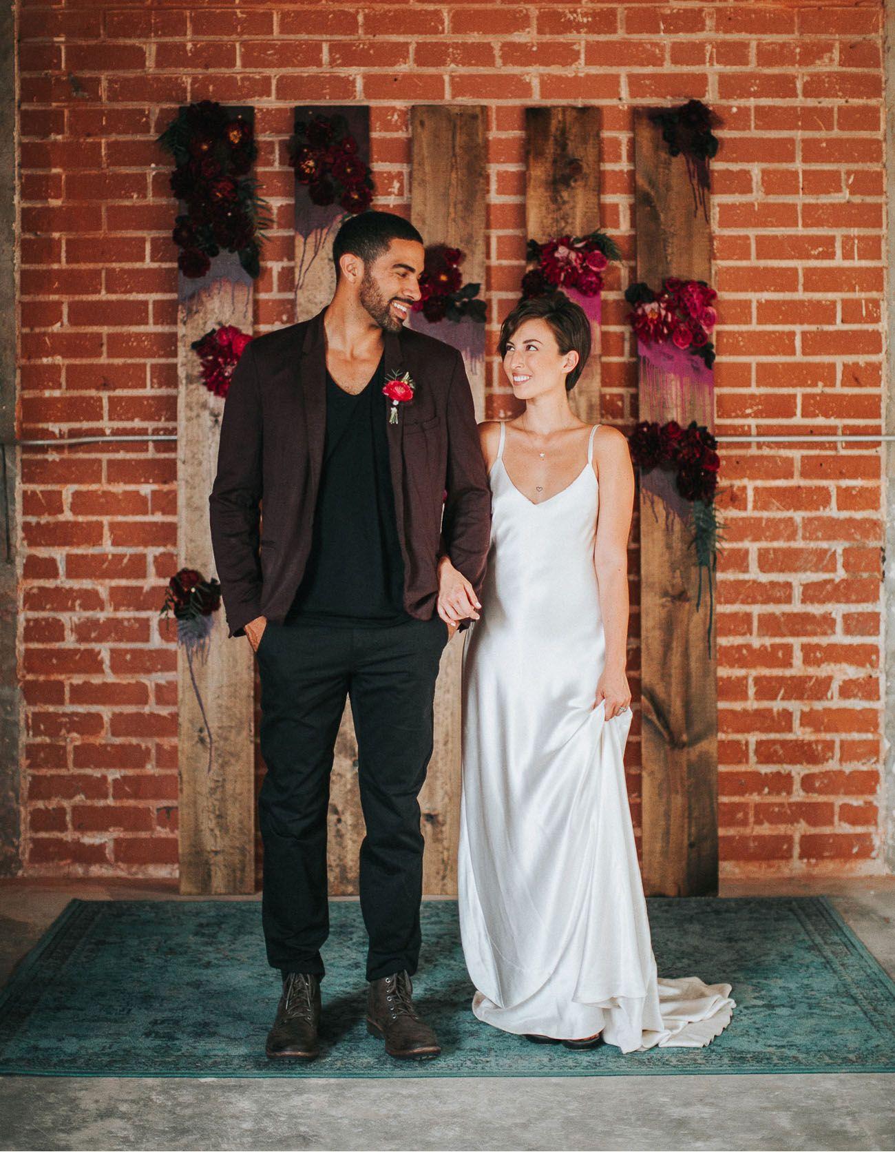 Wedding dresses downtown la  Downtown LA Cocktail Party Wedding Inspiration  Engagement