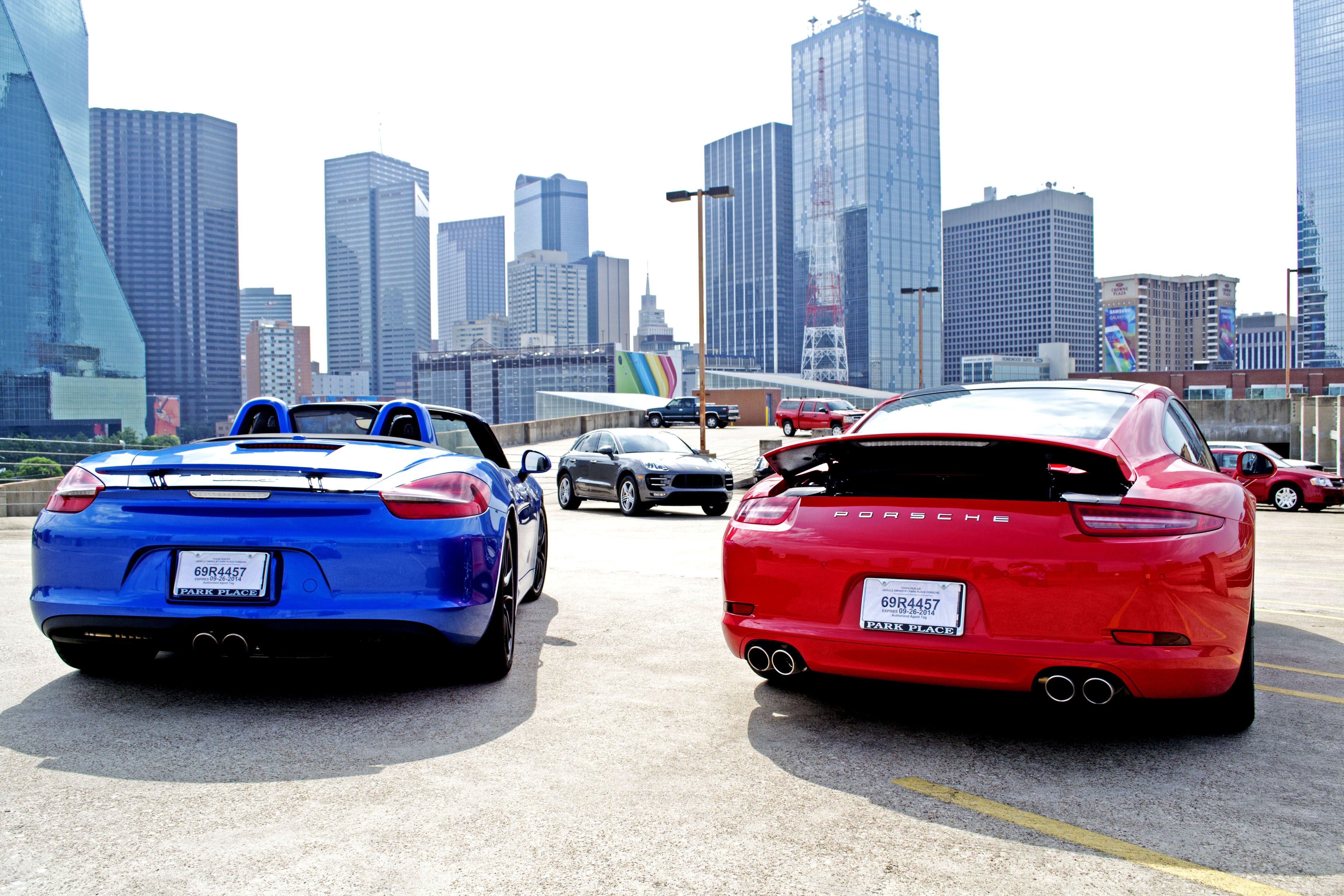 what a perfect view of dallas see the city in an all new porsche