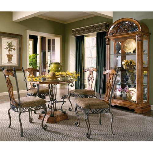 Laura Ashley Kitchen >> Ashley Furniture Millenium Number of Pieces: 5 Model: Santa Barbara Dinette Set Style: Rustic