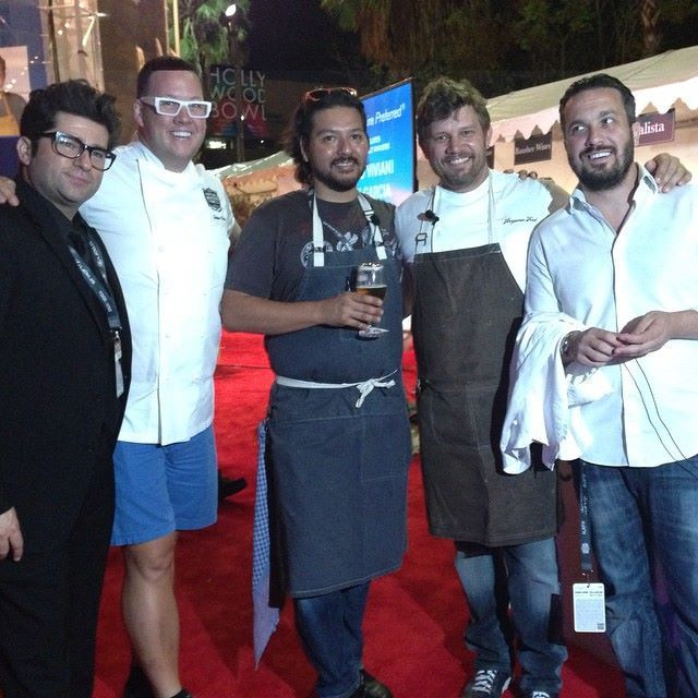 Chef Ben Ford in his Birdkage apron at #lafw2014