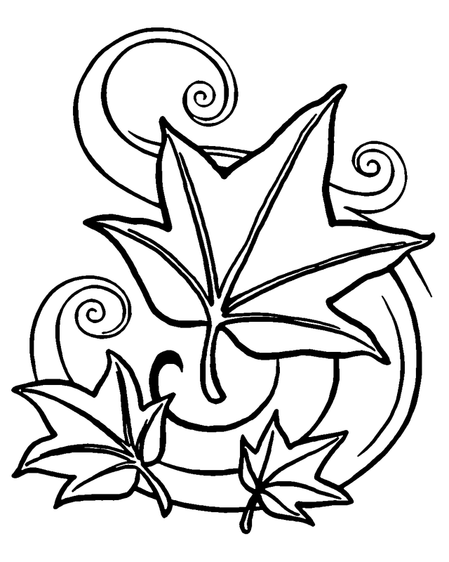 Autumn Coloring pages Autumn leaves DIBUJOS Pinterest Free