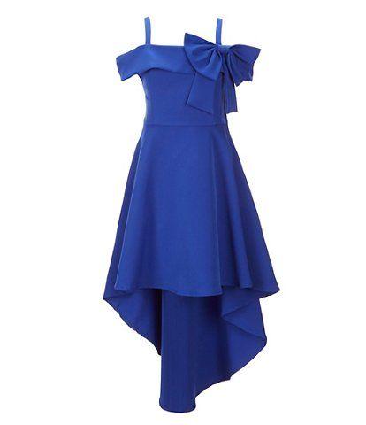 35e1c662570 Tween Diva Big Girls 7-16 Cold-Shoulder Hi-Low Fit-And-Flare Dress ...