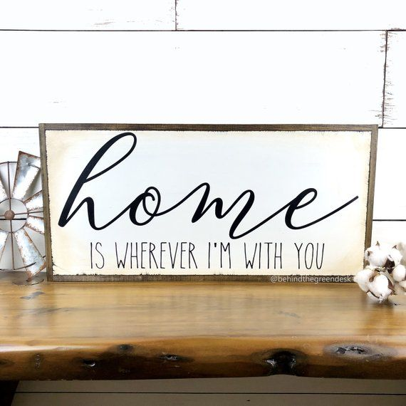 Gift Home is Wherever Im with You Sign