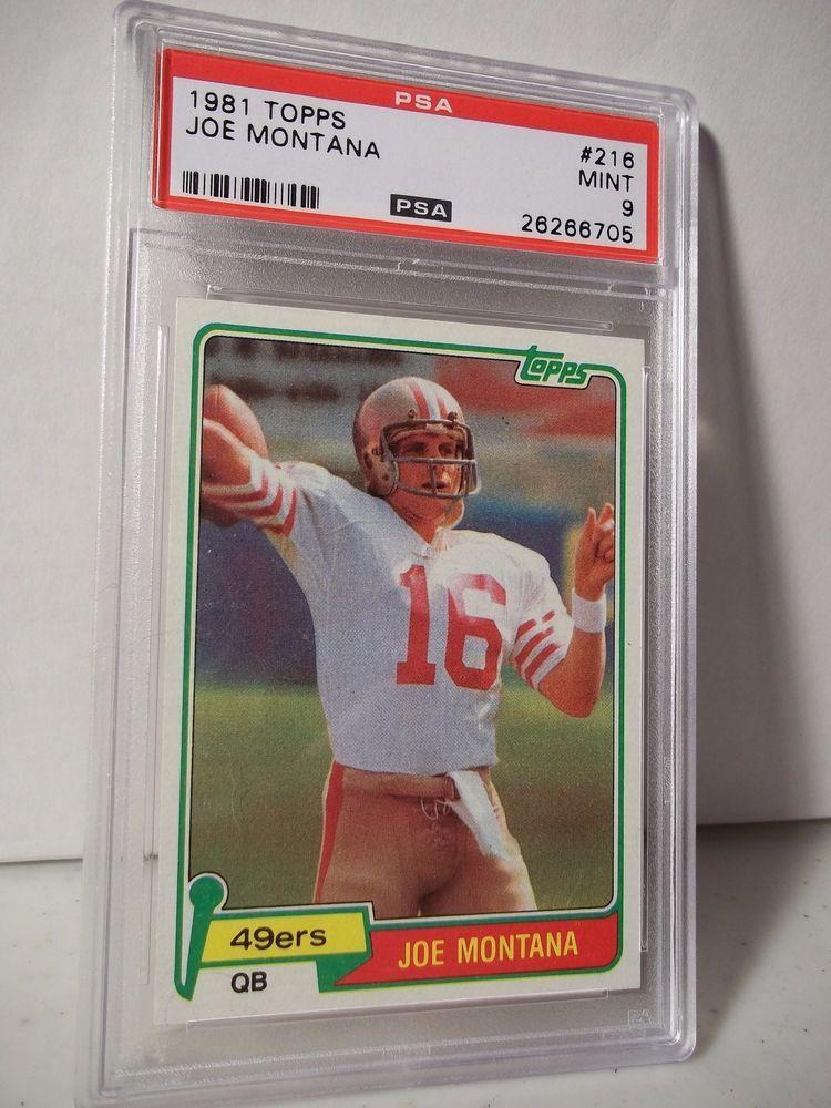 1981 Topps Joe Montana Rookie Psa Mint 9 Football Card 216
